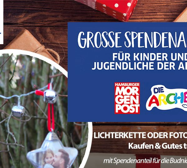 BUDNI Spendenaktion 2018 with pixolo powered by di support